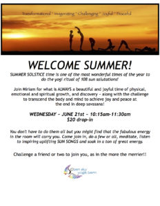 108 Sun Salutations Practice (Summer Solstice) @ Open Sky Yoga Barn  | Redding | Connecticut | United States