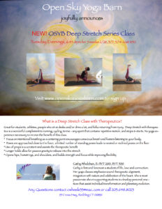 Deep Stretch Class with Therapeutics @ Open Sky Yoga Barn | Redding | Connecticut | United States