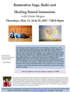 Restorative Yoga Reiki Healing Sound with Gisele @ Open Sky Yoga Barn  | Redding | Connecticut | United States