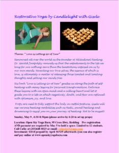 Restorative Yoga by Candlelight with Gisele @ Open Sky Yoga Barn | Redding | Connecticut | United States