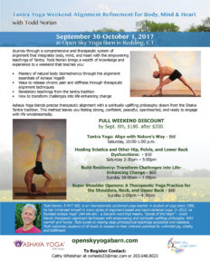 Tantra Yoga Weekend: Alignment Refinement for Body, Mind & Heart with Todd Norian - DAY 1 @ Open Sky Yoga Barn | Westport | Connecticut | United States