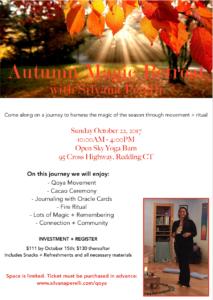 Qoya Autumn Magic Retreat @ Open Sky Yoga Barn | Redding | Connecticut | United States