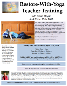 Restore-With-Yoga Training (Module 1) @ Open Sky Yoga Barn | Redding | Connecticut | United States