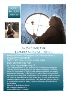 Mending the Fundamental Tone @ Open Sky Yoga Barn | Redding | Connecticut | United States