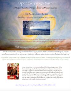 Winter Solstice 108 Salutations