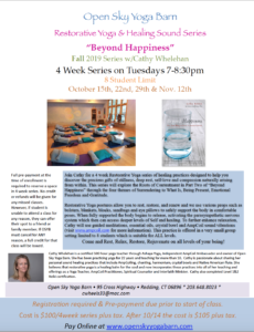 Beyond Happiness Yoga Series (Evening)